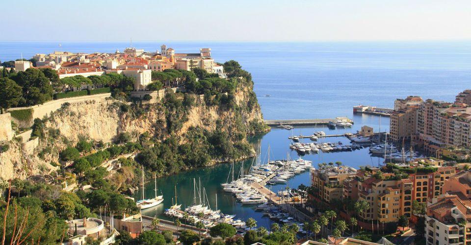 Vue aérienne, Monaco
