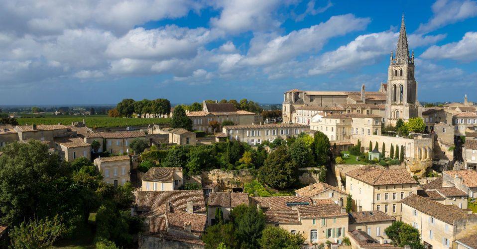 Vue sur le village, Saint-Emilion